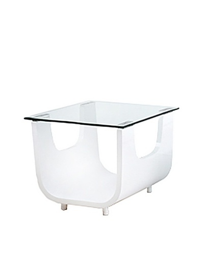 Furniture Contempo Saly Side Table, White