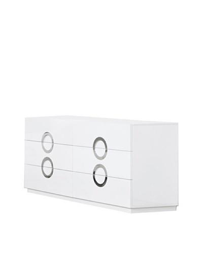Furniture Contempo Eddy Dresser, White