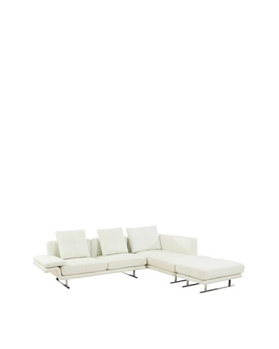 Furniture Contempo Savoy Sectional, White/Silver
