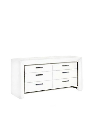 Furniture Contempo Ibiza Dresser, White/Silver