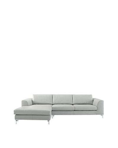 Furniture Contempo Angela Sectional with Right-Handed Chaise, Grey