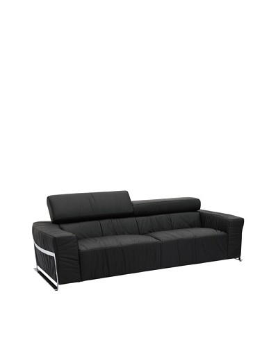 Furniture Contempo Nalah Sofa, Black/Silver