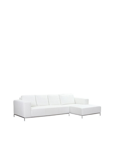 Furniture Contempo Dana Right Sectional Chaise, WhiteAs You See