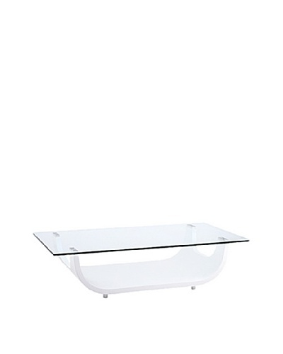 Furniture Contempo Saly Coffee Table, White
