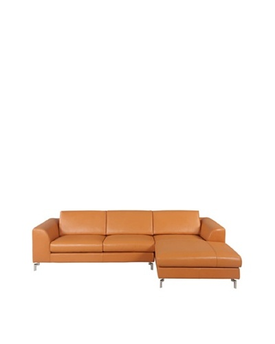 Furniture Contempo Angela Sectional with Left-Handed Chaise, Camel