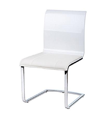 Furniture Contempo Lisa Chair, White/Silver