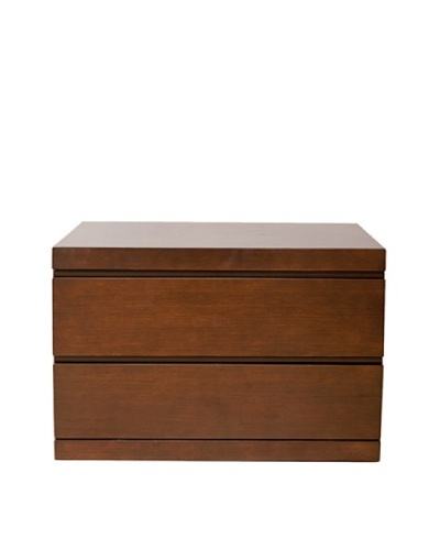 Furniture Contempo Anna Nightstand, Walnut Veneer, Small