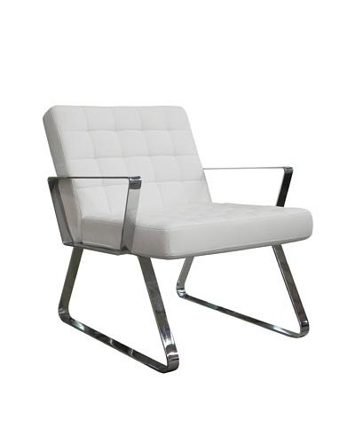 Furniture Contempo Century Chair, White/Silver