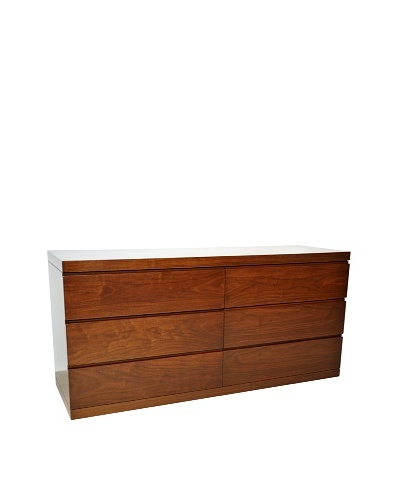 Furniture Contempo Anna Double Dresser, Walnut Veneer