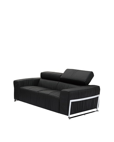Furniture Contempo Nalah Loveseat, Black/Silver