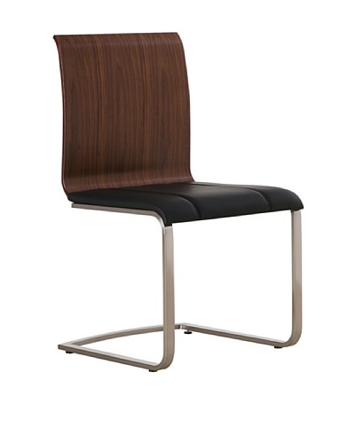 Furniture Contempo Lisa Chair, Chocolate/Silver