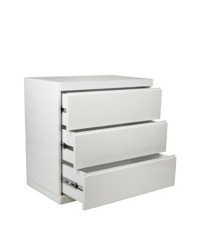 Furniture Contempo Anna Single Dresser, High Gloss White