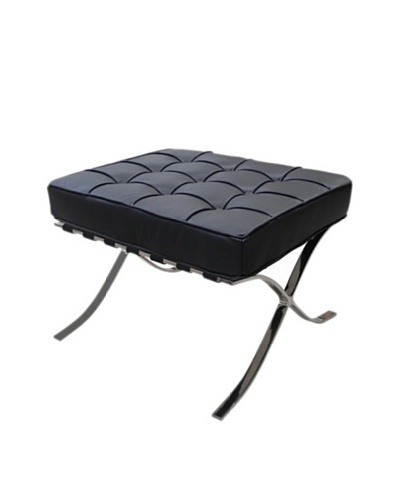 Furniture Contempo Barry Ottoman, Black