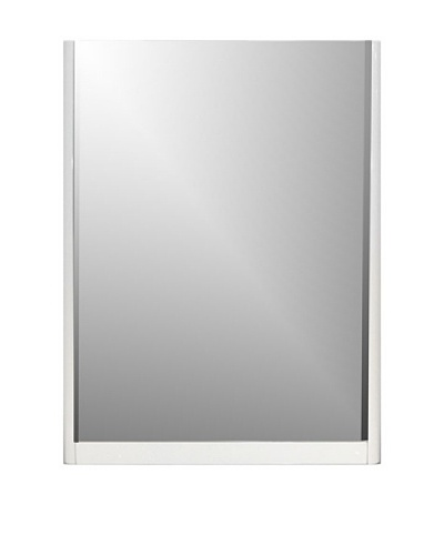 Furniture Contempo Bahamas Mirror, White