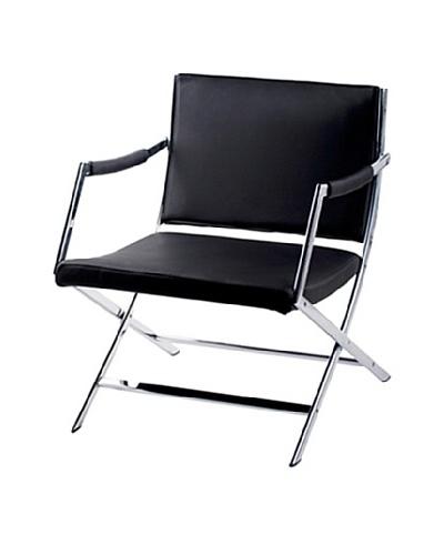 Furniture Contempo Jessy Armchair, Black/Silver