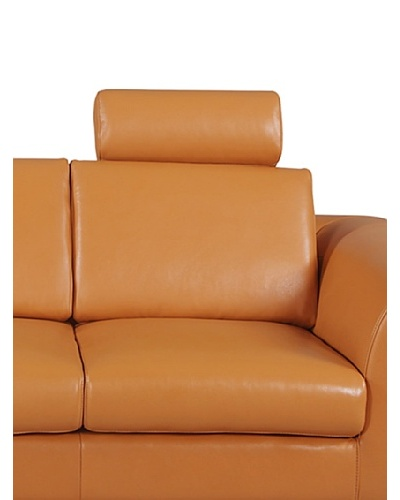 Furniture Contempo Angela Loveseat/Chair Headrest, Camel