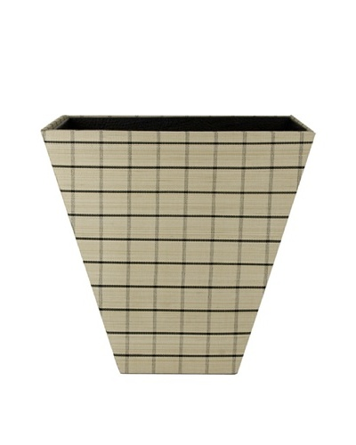 Gail DeLoach Woven Flair Wastebasket, Windowpane