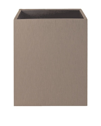 Gail DeLoach Vinyl Square Wastebasket, Pebble Grain
