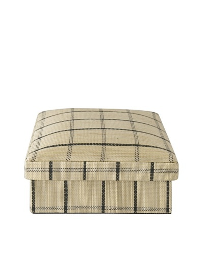 Gail DeLoach Woven Square Box, Windowpane