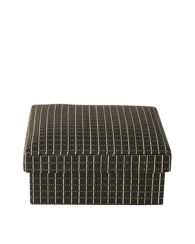 Gail DeLoach Woven Square Box, Black Square