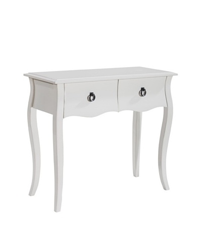 Gallerie Décor Lido Console Table, White