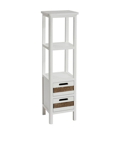 Gallerie Décor Bali Two-Drawer Tower, White