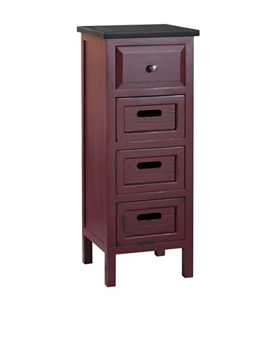 Gallerie Décor Shoreham Accent Cabinet, Red