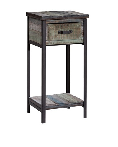 Gallerie Décor Soho Accent Table/Cabinet, Blue