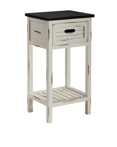 Gallerie Décor Shoreham One-Drawer Accent Table, CreamAs You See