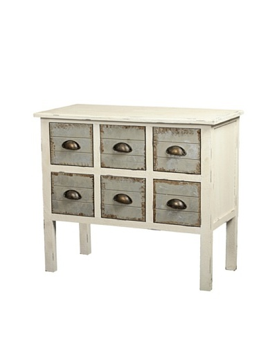 Gallerie Décor Dover Six-Drawer Accent Chest, Cream
