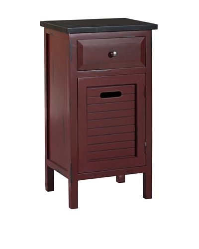 Gallerie Décor Shoreham One-Drawer One-Door Accent Cabinet, Red