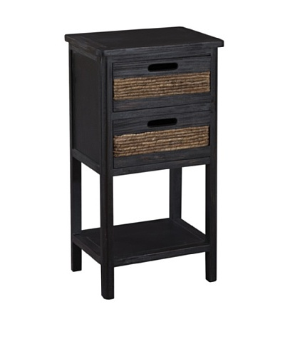 Gallerie Décor Bali Two-Drawer Accent Table, Espresso