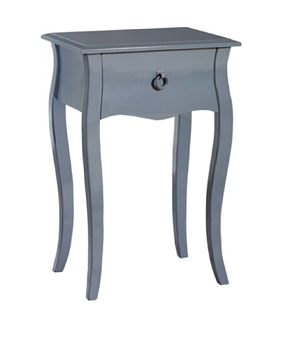 Gallerie Décor Lido Single-Drawer Accent Table, GreyAs You See