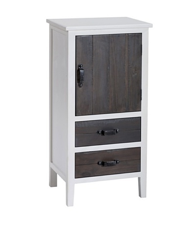 Gallerie Décor Adirondack One-Door Two-Drawer Accent Cabinet, White