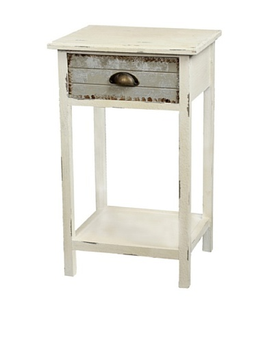 Gallerie Décor Dover One-Drawer Accent Table, CreamAs You See