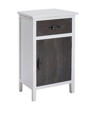Gallerie Décor Adirondack One-Drawer One-Door Cabinet, White