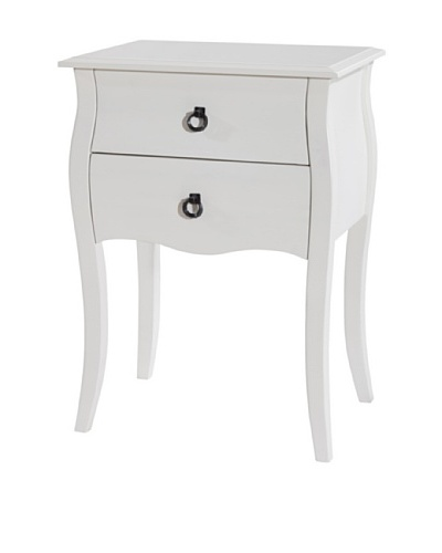 Gallerie Décor Lido Double-Drawer Accent Table, White