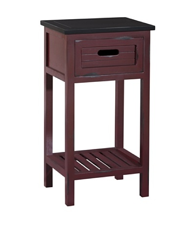 Gallerie Décor Shoreham One-Drawer Accent Table, Red