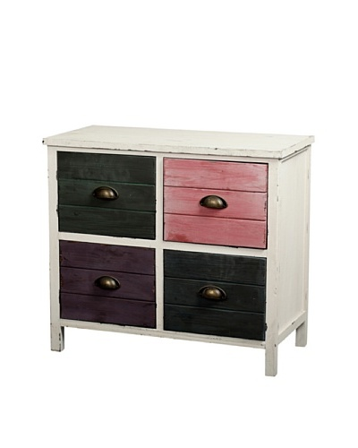 Gallerie Décor Hampton Four-Drawer Accent Chest, MultiAs You See