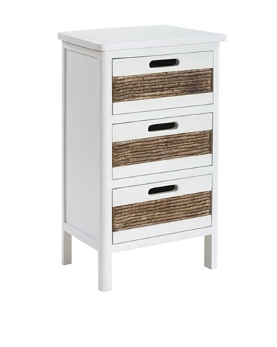 Gallerie Décor Bali Three-Drawer Cabinet, White