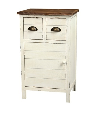 Gallerie Décor Dover Two-Drawer Accent Cabinet, Cream