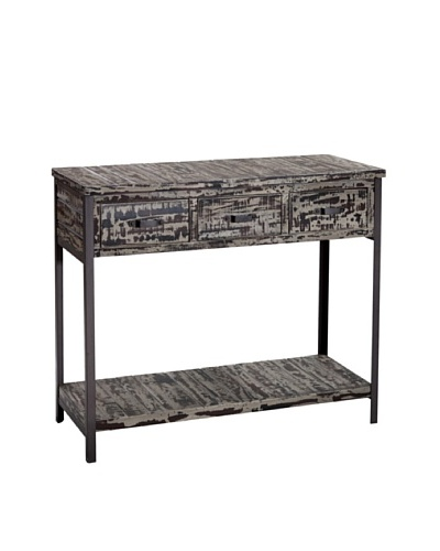 Gallerie Décor Soho Console Table, Brown