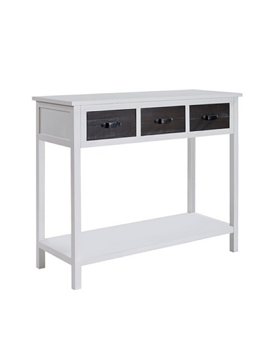 Gallerie Décor Adirondack Console Table, White