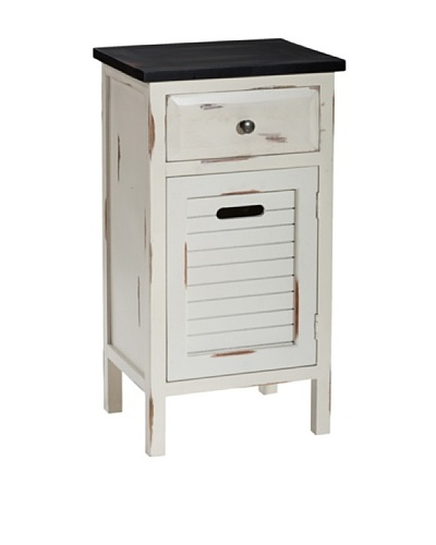 Gallerie Décor Shoreham One-Drawer One-Door Accent Cabinet, Cream