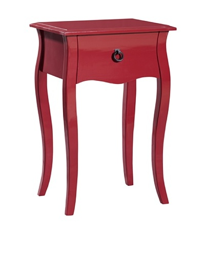 Gallerie Décor Lido Single-Drawer Accent Table, Red