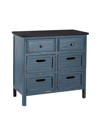 Gallerie Décor Shoreham Accent Chest, Blue
