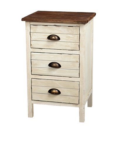 Gallerie Décor Dover Three-Drawer Accent Cabinet, CreamAs You See