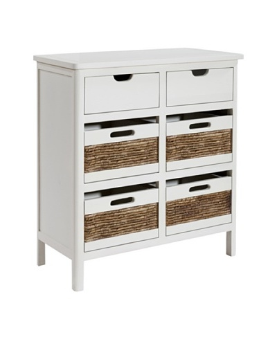 Gallerie Décor Bali Six-Drawer Chest, White