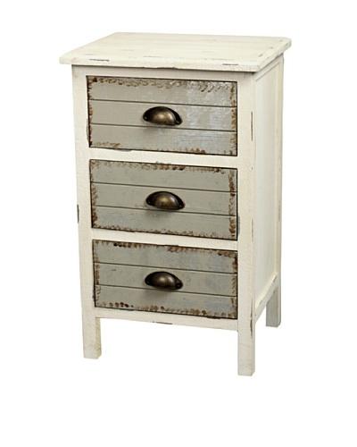 Gallerie Décor Dover Three-Drawer Accent Cabinet, Cream