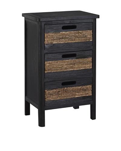 Gallerie Décor Bali 3-Drawer Cabinet, Espresso